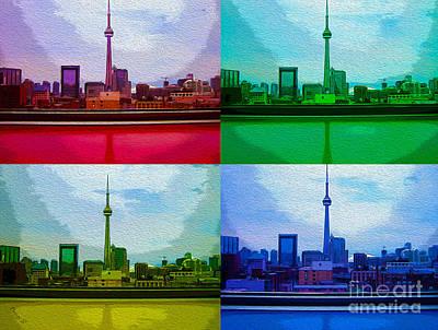 Photograph - Toronto Skyline Through Tinted Windows by Nina Silver