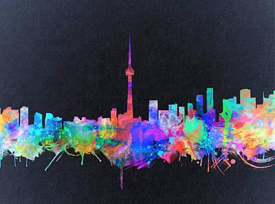 Painting - Toronto Skyline Watercolor 2 by Bekim Art