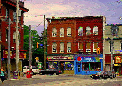 Painting - Toronto Street Scene Paintings Lennies Whole Foods Grocery Cabbagetown City Scenes Art Cspandau by Carole Spandau