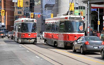 Toronto Streetcar Photograph - Toronto Street by Valentino Visentini
