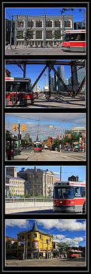 Toronto Streetcar Montage 2 Print by Andrew Fare