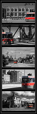 Toronto Streetcar Montage 3 Print by Andrew Fare