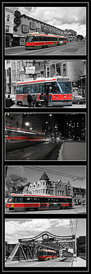 Photograph - Toronto Streetcar Montage by Andrew Fare