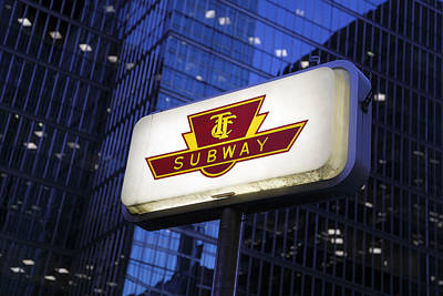 Toronto Subway Sign Art Print by Norman Pogson