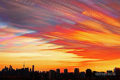 Photograph - Toronto Sunset Clouds Timelapse by Charline Xia