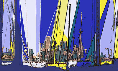 Digital Art - Toronto Through The Masts by Ian  MacDonald