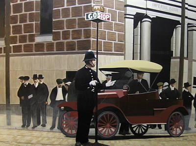 Cop Painting - Toronto Traffic Cop 1912 by Kenneth M  Kirsch