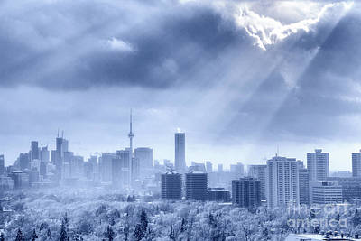 Photograph - Toronto Winter Blue by Charline Xia