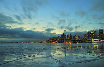 Photograph - Toronto Winter Evening by Orchidpoet