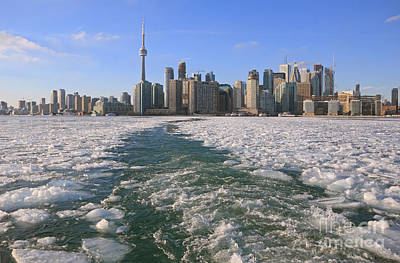 Photograph - Toronto Winter Skyline by Charline Xia