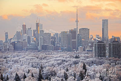 Photograph - Toronto Winter Sunset by Charline Xia