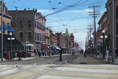 Painting - Toronto Yonge And College 1916 by Kenneth M  Kirsch
