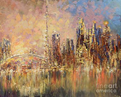 Painting - Toronto Yyz by Tatiana Iliina