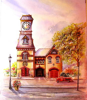 Painting - Toronto's Old Yorkville Fire Hall by Patricia Schneider Mitchell