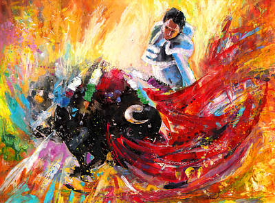 Torero Wall Art - Painting - Toroscape 12 by Miki De Goodaboom