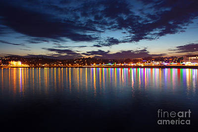 Photograph - Torquay At Night by Terri Waters