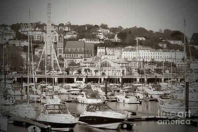 Photograph - Torquay Marina In Sepia by Terri Waters