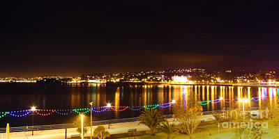 Photograph - Torquay Strand And Torbay At Night by Terri Waters