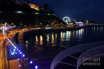 Photograph - Torquay The Strand At Night by Terri Waters