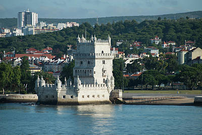 Large Format Photograph - Torre De Belem, Or The Tower Of St by Jan and Stoney Edwards