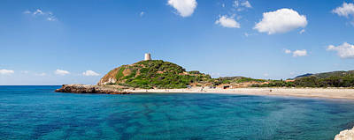 Sud Photograph - Torre Di Chia With The Saracen Tower by Panoramic Images