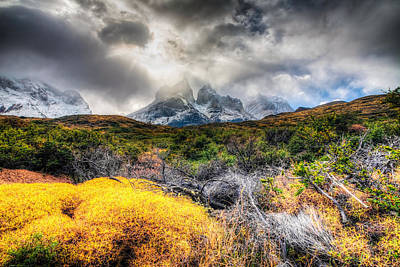 Photograph - Torres Del Paine Peaks by Roman St