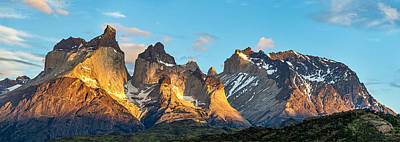 South America Painting - Torres Del Paine Sunrise - Patagonia Photograph by Duane Miller