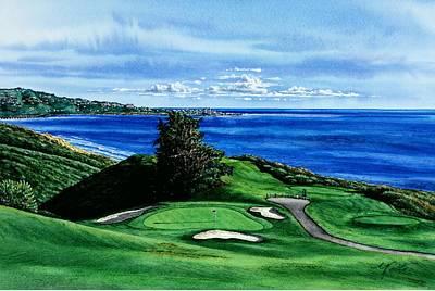 Torrey Pines Painting - Torrey Pine Golf Course San Diego California by John YATO