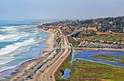 Photograph - Torrey Pines Coastline by Jane Girardot