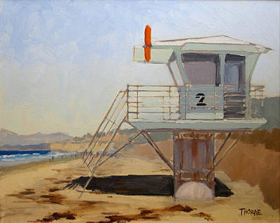 Torrey Pines Painting - Torrey Pines Lifeguard Station #2 by Marcus Thorne