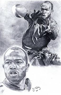 Torry Holt Art Print by Jonathan Tooley