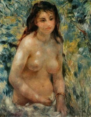 Torse Effet De Soleil Art Print by Pierre-Auguste Renoir