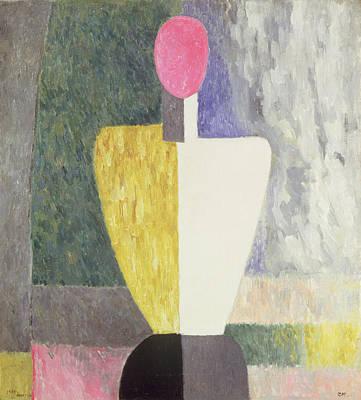 Faceless Photograph - Torso, 1928-32 Oil On Canvas by Kazimir Severinovich Malevich