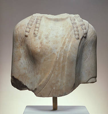 Torso Of A  Kouros Unknown Chios  About 520 B Print by Litz Collection