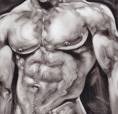 Painting - Torso Study by Rudy Nagel