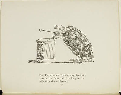 Edition Photograph - Tortoise Playing A Drum by British Library