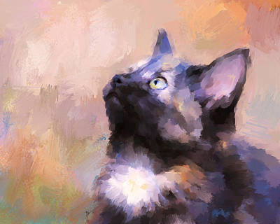 Painting - Tortoiseshell Kitten #3 by Jai Johnson