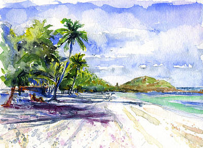 Painting - Tortola British Virgin Islands by John D Benson