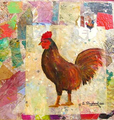 Tortuga Rooster Art Print