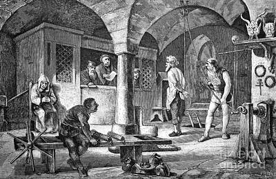 Torture Chamber, Historical Artwork Art Print