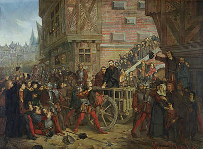 Torture Of Etienne Dolet 1509-46 Oil On Canvas Art Print