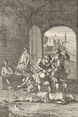 Torture Of Heretics In Arras, 1491, Caspar Luyken Art Print by Caspar Luyken And Hermannus Ribbius