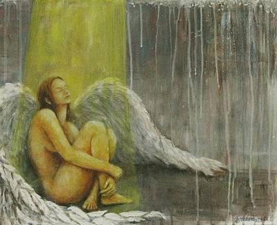 Angels Painting - Tortured by Josh Hertzenberg