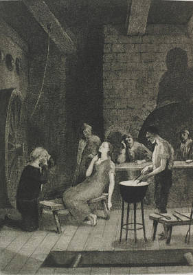 D.p Photograph - Torturing A Witch by British Library