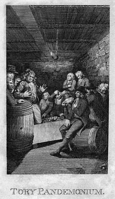 Gaslight Painting - Tory Pandemonium, C1775 by Granger