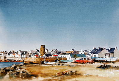 Painting - Tory Island West Village Donegal by Val Byrne