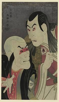 Oni Photograph - Toshusai Sharaku Kabuki Actors by Georgia Fowler