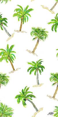 Toss Palm Pattern Art Print by Julie Derice