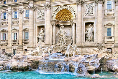 Photograph - Toss Your Coins In The Trevi Fountain - Rome by Mark E Tisdale
