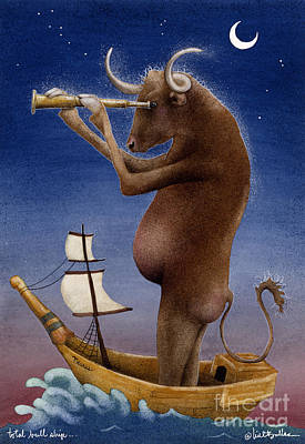 Total Bull Ship... Art Print by Will Bullas